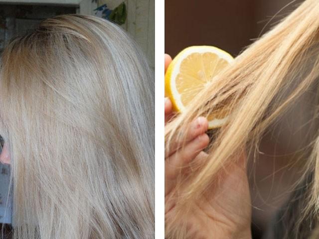 Как обесцветить волосы не голове