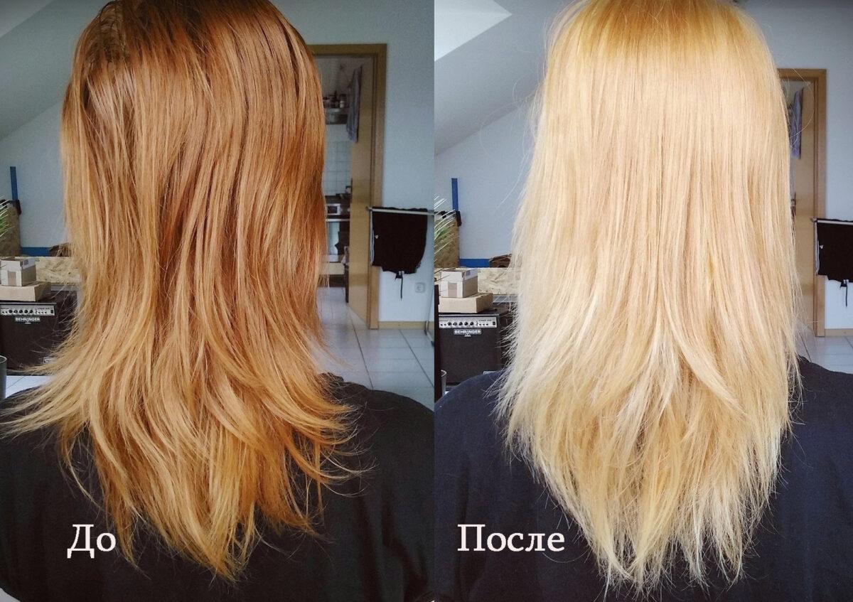 как обесцветить волосы перекисью водорода на голове