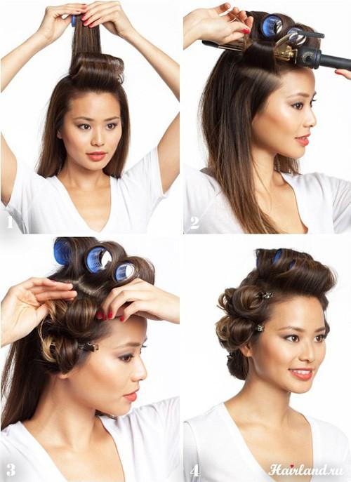 Как сделать укладку объёмную на длинные волосы