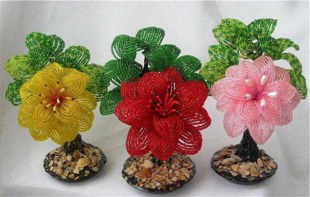 Как плести бисером цветы