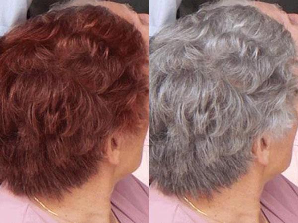 Как закрасить седые волосы