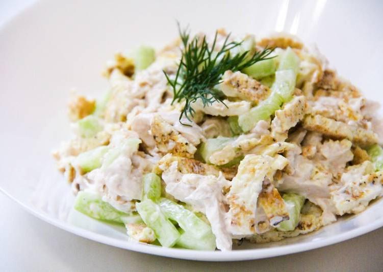 Вкусный сытный салат на праздничный стол