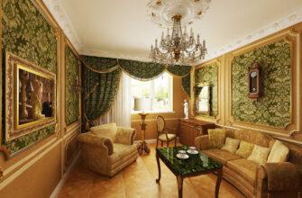 Интерьер в стиле барокко в современной квартире