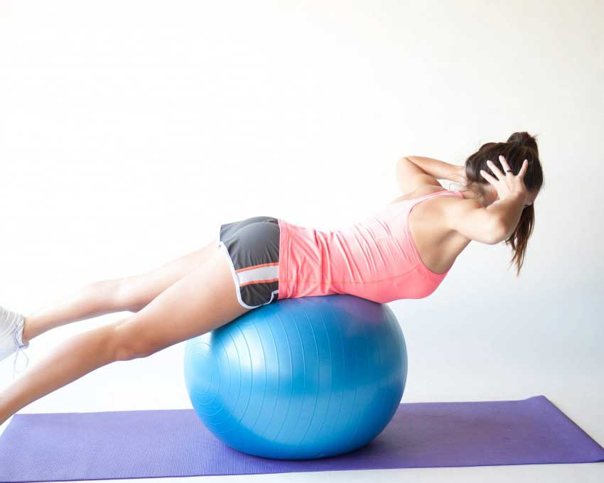 Тренировка на фитболе для похудения