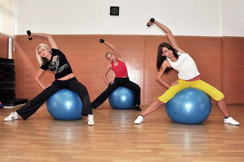 Тренировки на мяче