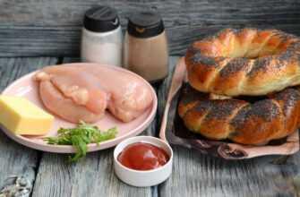Бублик «Королевский» с сыром и куриным мясом