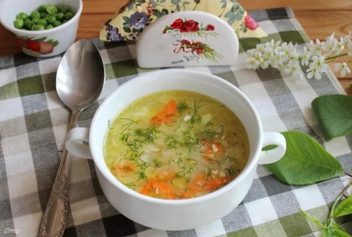 Как приготовить вкусный куриный суп с яйцом и горошком